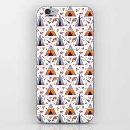 Tribal Tee Pee And Arrow Boho Design iPhone Skin