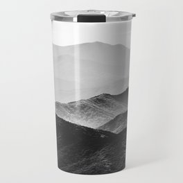 Glimpse - Black and White Mountains Landscape Nature Photography Travel Mug