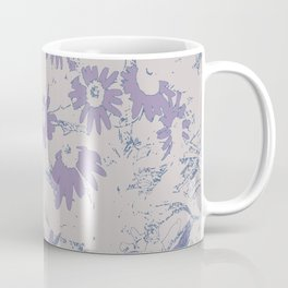 Purple Coneflowers with Grey Background Coffee Mug