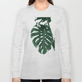 Monstera Delight #4 #tropical #decor #art #society6 Long Sleeve T-shirt