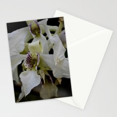 white orchid 2 Stationery Cards
