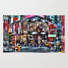 Times Square New York Rug