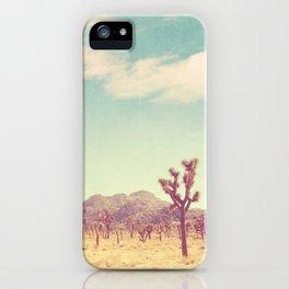 Joshua Tree photograph, desert print, No. 189 iPhone Case
