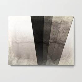Grey Textured rays Metal Print