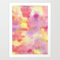 Light Watercolor Galaxy Art Print