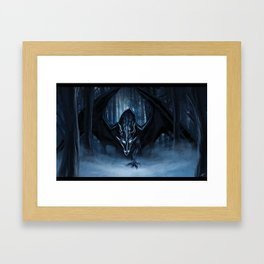 Ice Dragon Framed Art Print