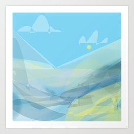 Ice-Lake Art Print