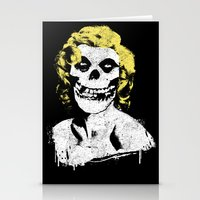 misfits Stationery Cards featuring Misfits Monroe by AtomicChild