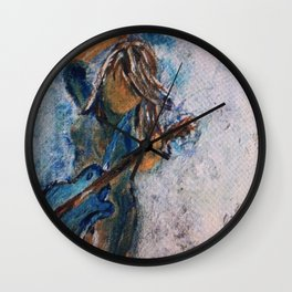 rock and roll goddess Wall Clock