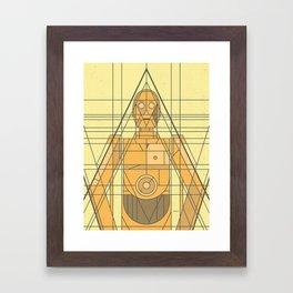 C3PO Deco Droid Framed Art Print