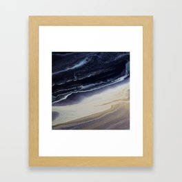 Marble in Blue and Ivories Framed Art Print