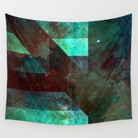 tits Wall Tapestries featuring Emerald Nebulæ  by Aaron Carberry