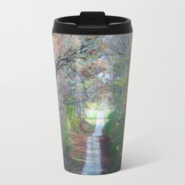 Country Road In The Fall Travel Mug
