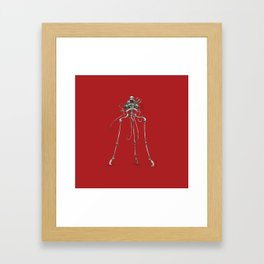 Martian Tripod Queen: Mars Red Framed Art Print