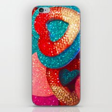 shimmering hearts iPhone & iPod Skin