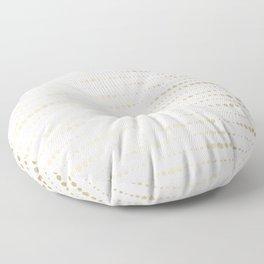 Modern Gold Polka Dot Stripes Floor Pillow