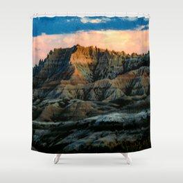 Dragon Mountains Shower Curtain