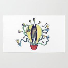 Handsy Lightbulb by Maisie Cross Rug