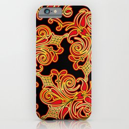 Russian folk stylized pattern Khokhloma iPhone Case
