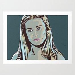 I'm in a dream. Westworld inspired Fan Art of Dolores Art Print