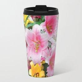 SPRING LILIES FLOWER GARDEN MEDLY Travel Mug