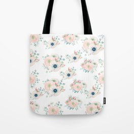 Dog Rose Pattern 2 Tote Bag