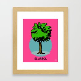 El Arbol Mexican Loteria Card Framed Art Print