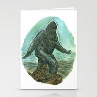 sasquatch Stationery Cards featuring Sasquatch by Samantha Bryanne