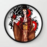 mulan Wall Clocks featuring Mulan by artwaste