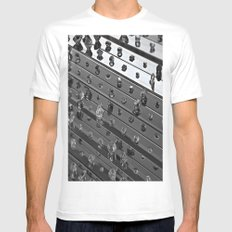 Lost Memories And Dreams Forgotten- Hirst White MEDIUM Mens Fitted Tee