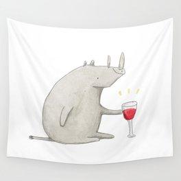 Wino Rhino Wall Tapestry