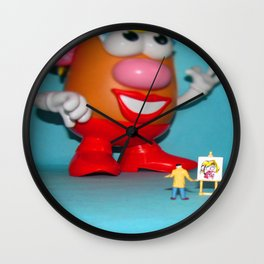 Draw me like one of your French Fries  Wall Clock