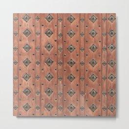 Texture Wood Metal Print