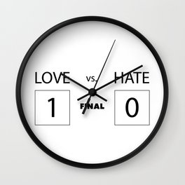 Love vs. Hate Wall Clock
