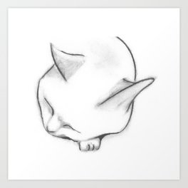 Peaceful Cat Art Print
