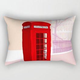 London Telephone Box Rectangular Pillow