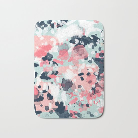 Jilly - modern abstract gender neutral canvas art print large scale abstract painting Bath Mat