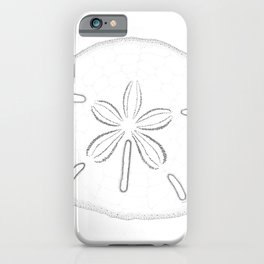 Sand Dollar Blessings - Black on White Pointilism Art iPhone Case