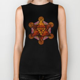 Sacred Geometry for your daily life -  Platonic Solids - IGNIS Biker Tank
