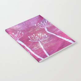 Alliums in Red Notebook