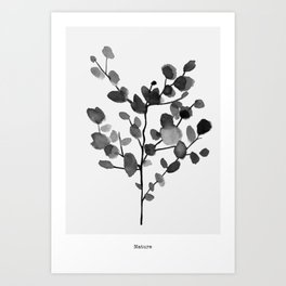 Watercolor Leaves II Art Print