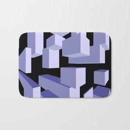 3D Blue Bath Mat