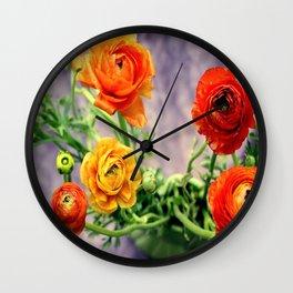 Ranunculi, Ranuncula, Ranunculi, Ranuncu la ha ha ha Wall Clock