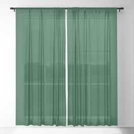 Forest Green Sheer Curtain