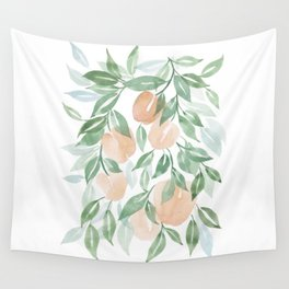 Peach Tree Wall Tapestry