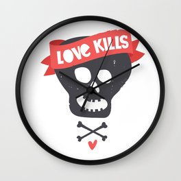Love kills Wall Clock