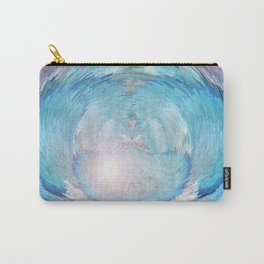 A Woven Basket Case - Electrified In Blue Carry-All Pouch