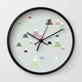 winter || in white Wall Clock
