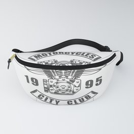 Vintage motorcycle club emblem in design fashion modern monochrome style illustration Fanny Pack