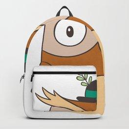Cartoon Abstract Owl Backpack